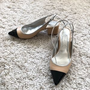 Zara pointed toe heel- wraps around the ankle